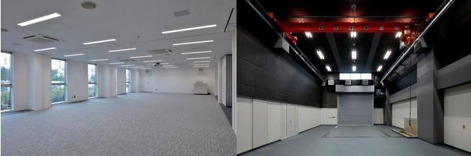 1階大会議室、1階大型試験室